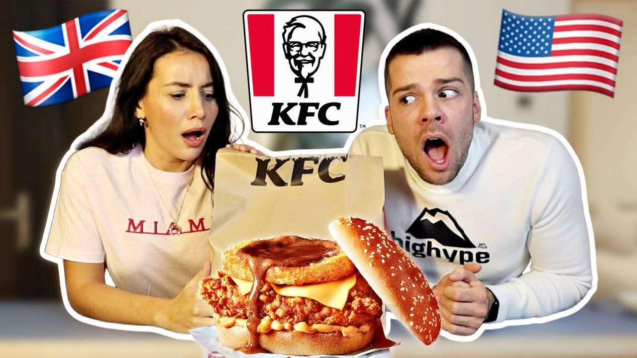 British People Trying KFC Gravy Burger Box Meal for the First Time!