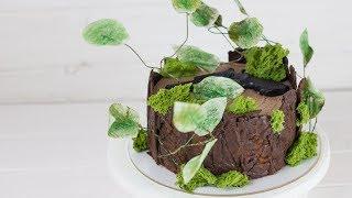 """Рецепт торта """"Пьяная вишня"""". Простое украшение торта, вкусный шоколадный бисквит и заварной крем"""
