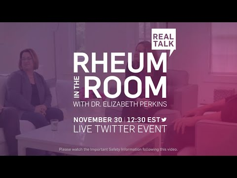 Don't miss Rheum in the Room with Dr. Elizabeth Perkins