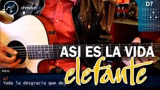 """Cómo tocar """"Así Es la Vida"""" de Elefante en Guitarra Acústica (HD) Tutorial - Christianvib"""