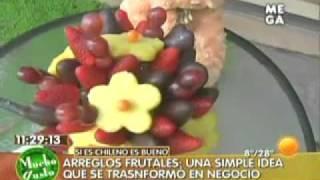 Arreglos Frutales Chile en Mucho Gusto de MegaTV_ Tel 2332699