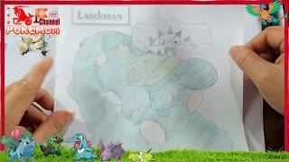 Pokemon drawings cartoons for children How to draw Landorus pokemon sun moon | Pokemon art for kids