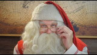 Message Père Noël en Laponie: Papa Noël parle aux enfants - vidéo Finlande Rovaniemi Cercle Polaire