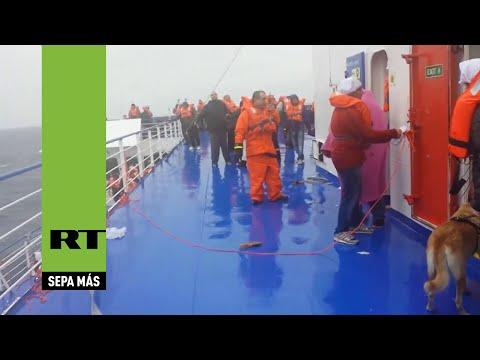 El incencio del ferry Norman Atlantic grabado en primera persona