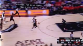 kawhi leonard tries dunking Patrick Beverly