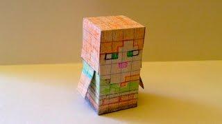 как сделать из бумаги майнкрафт мини фигурки