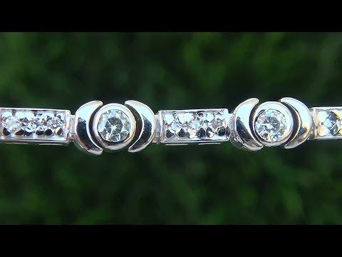estate-vs1/g-natural-diamond-and-14k-white-gold-tennis-cocktail-bracelet---c635