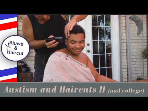 Giving My Son With Autism A Haircut Update Youtube