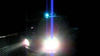 青色回転灯パトロール中です