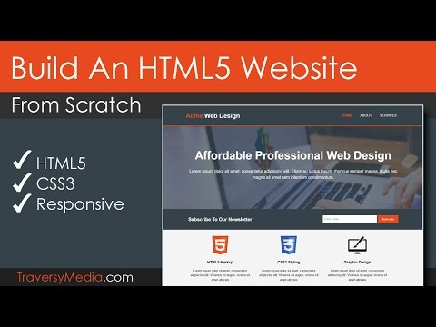 Build An Html5 Website With Responsive Layout