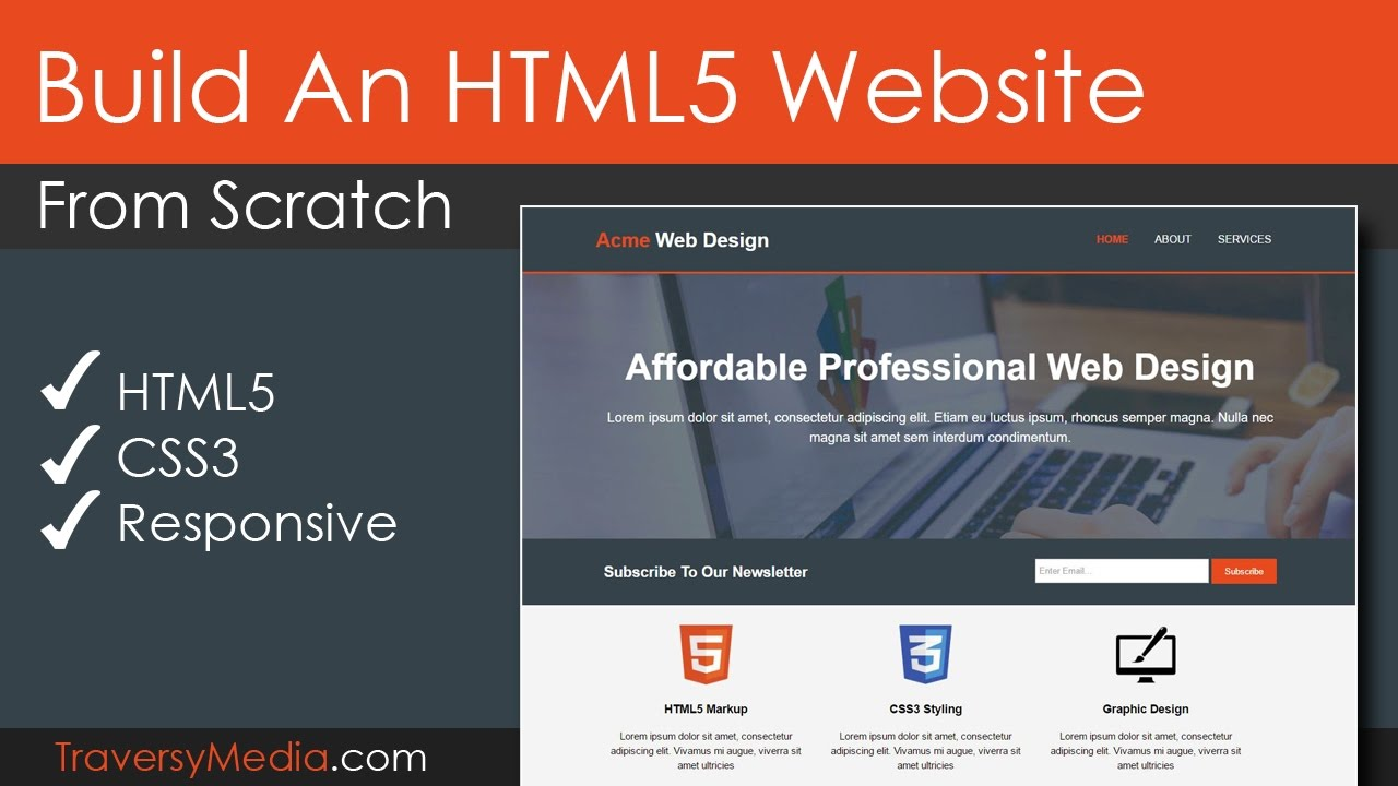 Build An Html5 Website With A Responsive Layout Youtube