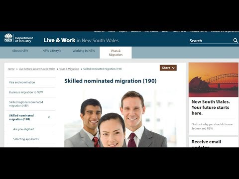 NSW state nomination visa | NSW 190 and 489 visa process and occupation list