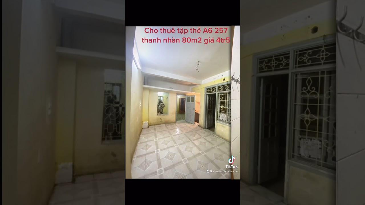 image Cho thuê căn hộ tập thể 80m2 phố thanh nhàn 2pn giá 4tr5