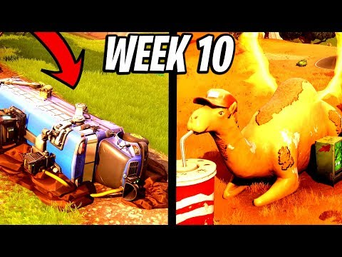 VISIT A VIKING SHIP A CAMEL AND A CRASHED BATTLE BUS! Week 10 Challenges Fortnite