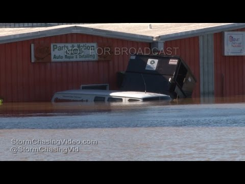 Rocky Mount NC Extreme Flooding from Hurricane Matthew - 10/9/2016