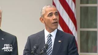 Watch Live: President Obama addresses the outcome of the 2016 election