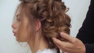 Причёска от школы Руслана Татьянина. Причёска из четырёх кос