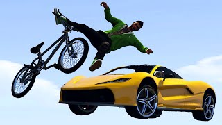 SMASH THE ESCAPING BIKERS! (GTA 5 Funny Moments)