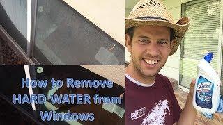 Remove Hard-Water Residue on Windows (calcium build-up or foggy window) -- Washing your Windows