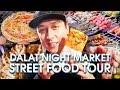 Street Food Tour in DALAT NIGHT MARKET 2018   VIETNAMESE FOOD