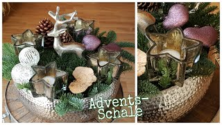 Advents-Schale | Adventsdeko 2018 /  Weihnachtsdeko 2018 ▪ Adventsdeko diy