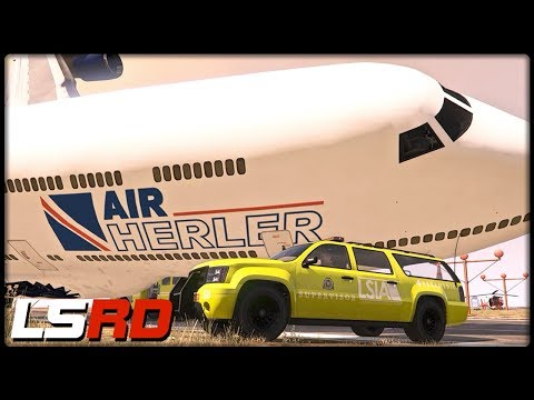 GTA 5 LSRD | Flugzeugabsturz am Airport - Deutsch - Grand Theft Auto 5 Los Santos Rescue Division thumbnail