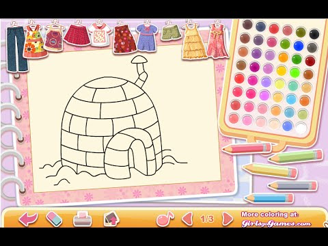 Igloo Coloring Pages For Kids - Igloo Coloring Pages - YouTube
