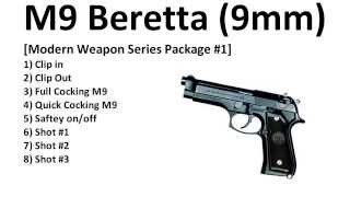 Royalty Free - M9 Beretta (9mm) - Sound Effects - HQ
