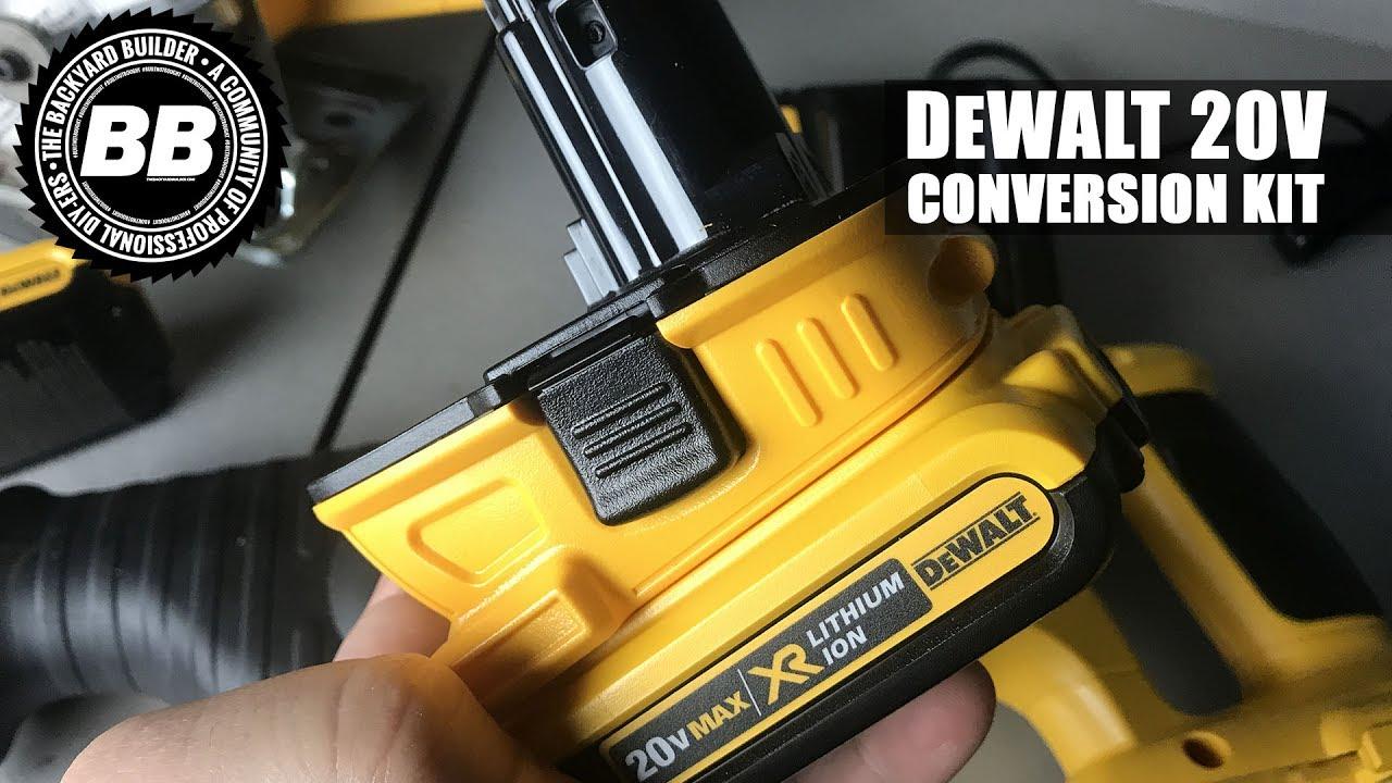 DeWalt 20V Conversion Kit For Old School DeWalt Power Tools