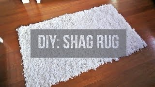 DIY || Soft, Fluffy, White Shag Rug | Area Rug | Floor Rug