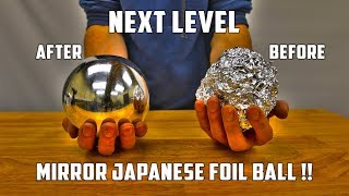 Casting Mirror Polished Japanese Foil Ball from Molten Aluminium