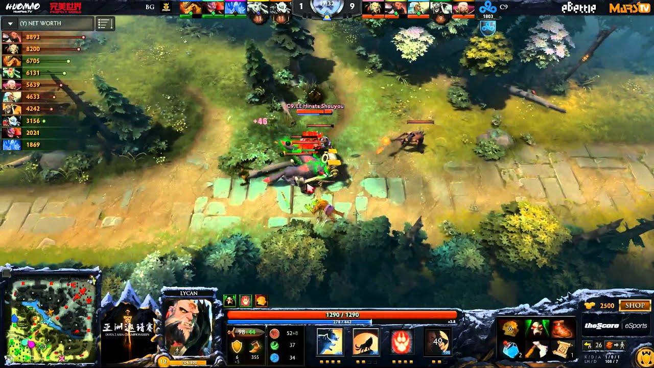 epic cloud 9 vs big god game 1 dota 2 asia championships ld
