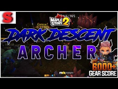 6000+ Gear Score Archer Tackles Dark Descent! [MapleStory 2]