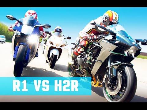 Kawasaki H2r Vs Yamaha R1 Top Speed 0 200 Kmh Acceleration