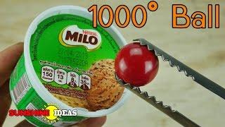 ลูกบอลไฟ 1000 องศา VS ไอติมไมโลและเพื่อนๆ ผลจะเป็นอย่างไรมาดูกัน 1000 Degree Ball VS Ice Cream