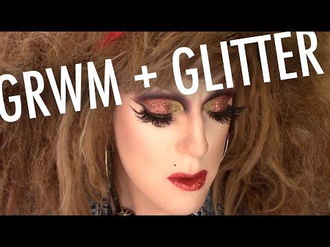 GLITTER GRWM! — Ft. Magnolia Makeup, Cailyn Cosmetics, NYX