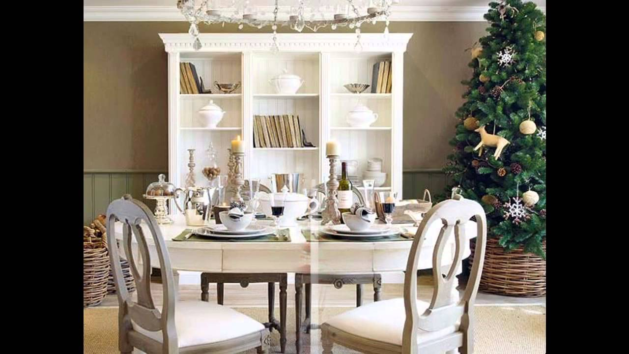 elegant christmas dinner table decoration ideas youtube - Christmas Dining Room Table Decorations