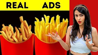 Foods in TV Ads vs in REALITY (SHOCKING)