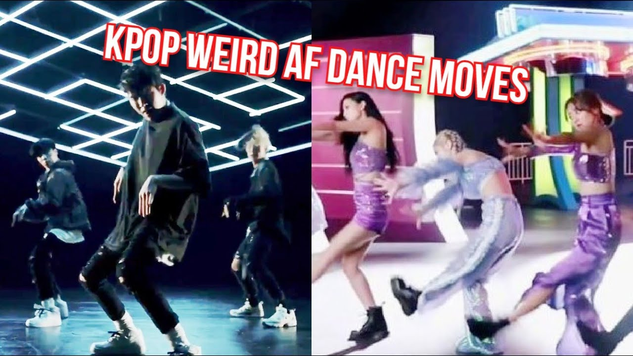 Weird AF Choreographies of Kpop groups