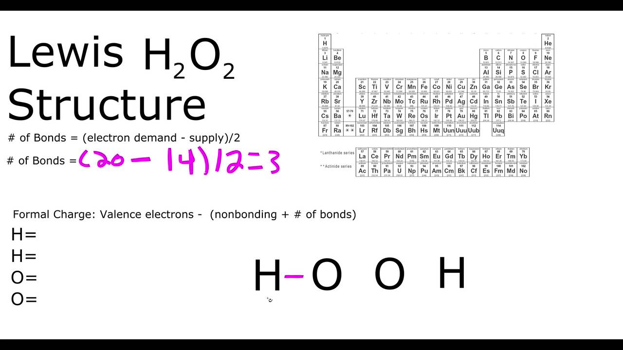 h2o2 lewis structure youtube lewis dot diagram of h2o2 [ 1280 x 720 Pixel ]