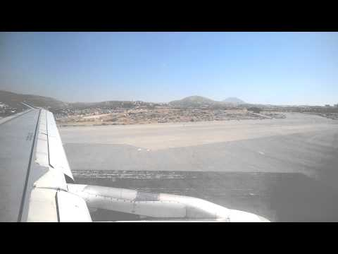 Take-off from Heraklion (HER), Greece Airbus A320 (Travel Service Airlines)