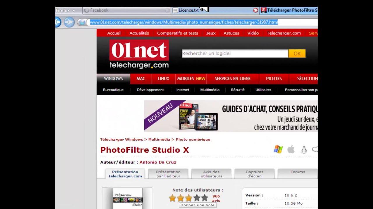 photofiltre studio 01net