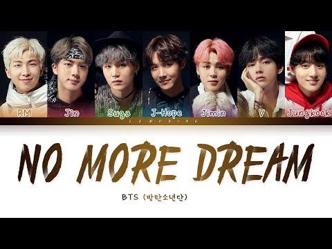 BTS - No More Dream (방탄소년단 - No More Dream) [Color Coded Lyrics/Han/Rom/Eng/가사]