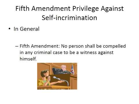 Module II: Defenses and Privileges: The Fifth Amendment Priv