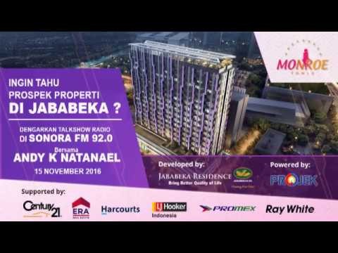 Talkshow Monroe Tower Apartement di Radio Sonora 92.0 FM