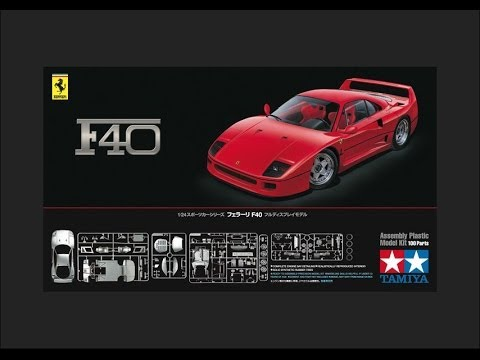 Tamiya 1/24 Ferrari F40 Scale Model Review - YouTube