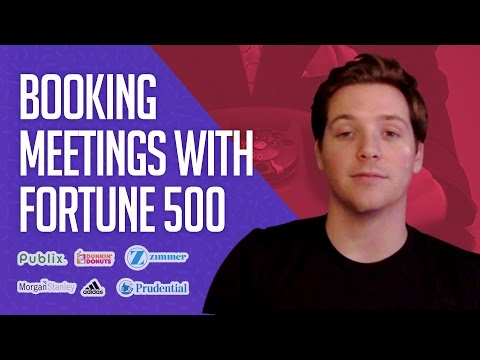 How We Booked 6 Fortune 500 Meetings in 6 days (Morgan Stanley, Adidas, Dunkin' Donuts...)