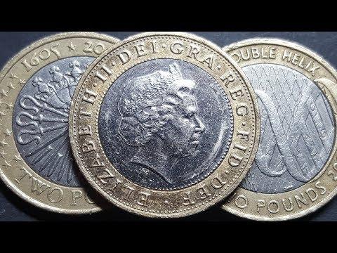 United Kingdom's 2 pound coins worth money