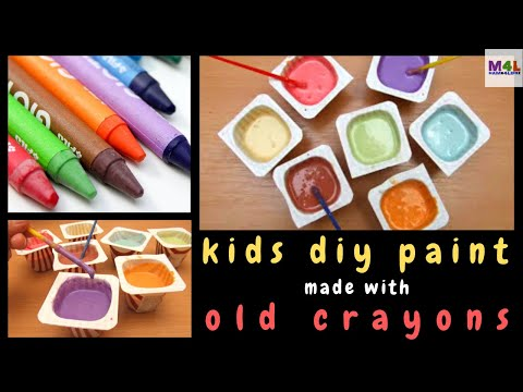 How to make home made paint with old crayons for the kids to use ...