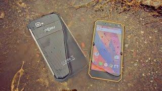 Nomu лучшие защищенные смартфоны с ip68 и объемными батареями. Распаковка и мини обзор.